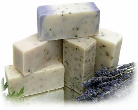 Jabón casero con el aceite usado