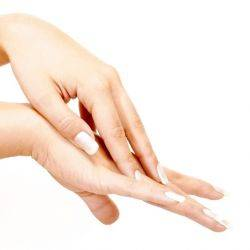 Mascarilla de duraznos para las manos