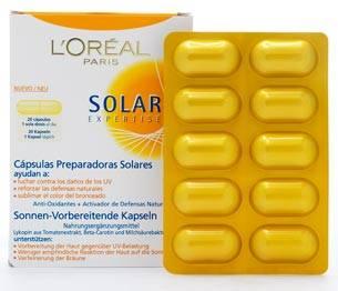 Capsulas preparadoras solares de Loreal