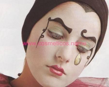 Maquillaje de pierrot para halloween