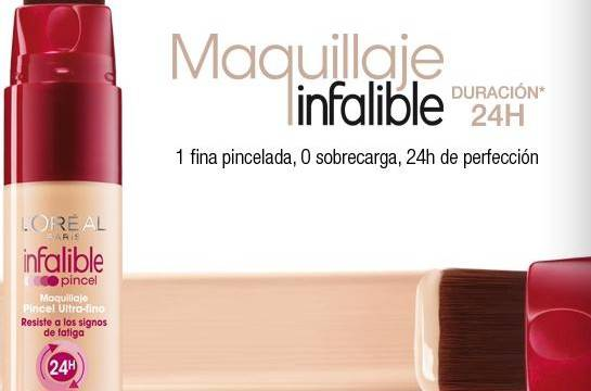 Fondo de maquillaje Infalible Pincel de Loreal Paris