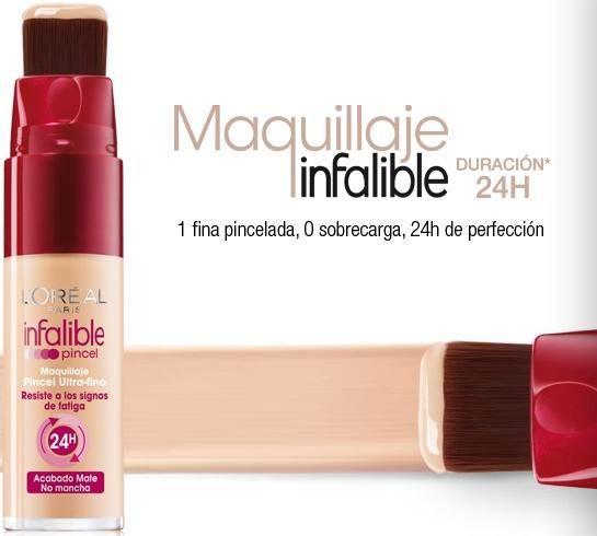 Fondo de maquillaje Infalible Pincel de Loreal Paris - Cosmeticos