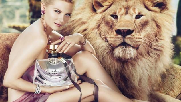 Kristen Dunst y el emblématico león de Bulgari