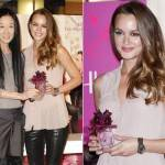 Leighton Meester promociona el perfume de Vera Wang